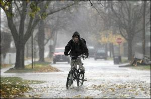 Bike Riding, Rain