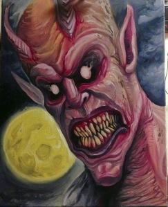 Demon_Oil_Painting_David_Ekstrom