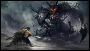 Warrior versus Demon