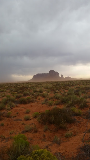 Dust and monument valley