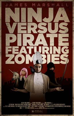 Ninja Versus Pirate Featuring Zombies by James Marshall